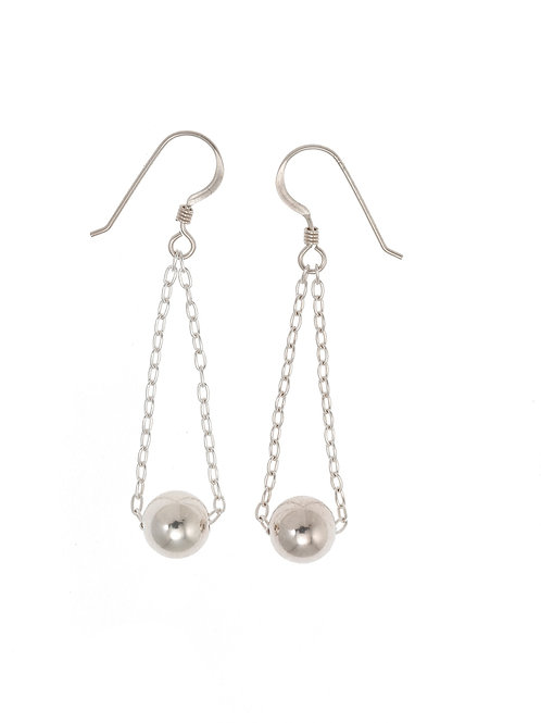 Gloria Sterling Silver Ball Earrings