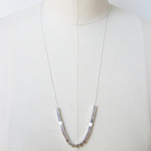 Cate Sterling Silver Brass Beaded Necklace