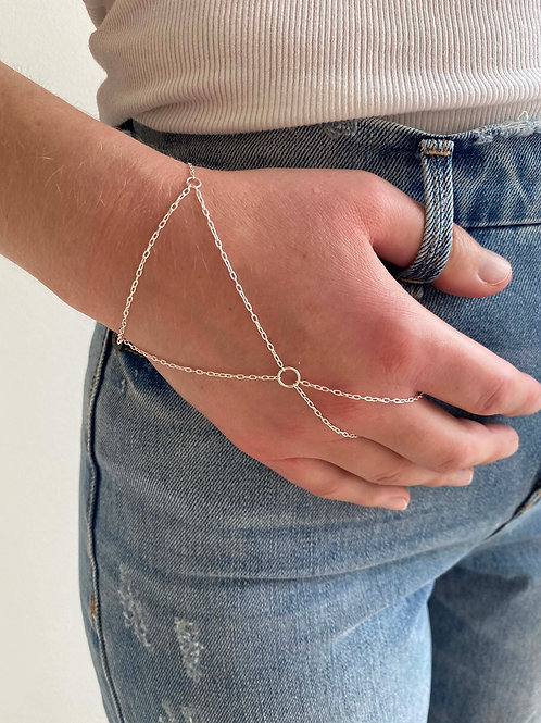 Beatrice Sterling Silver Hand Chain