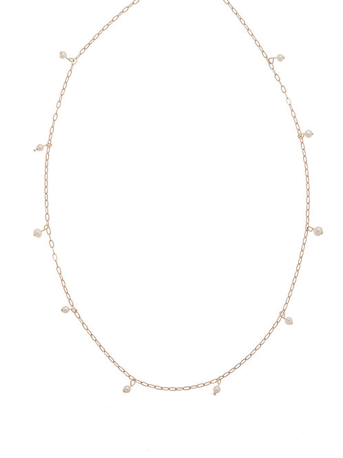 Whitney Rose Gold Pearl Necklace