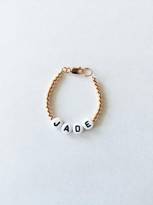Giulia Beaded Jade Kid Bracelet