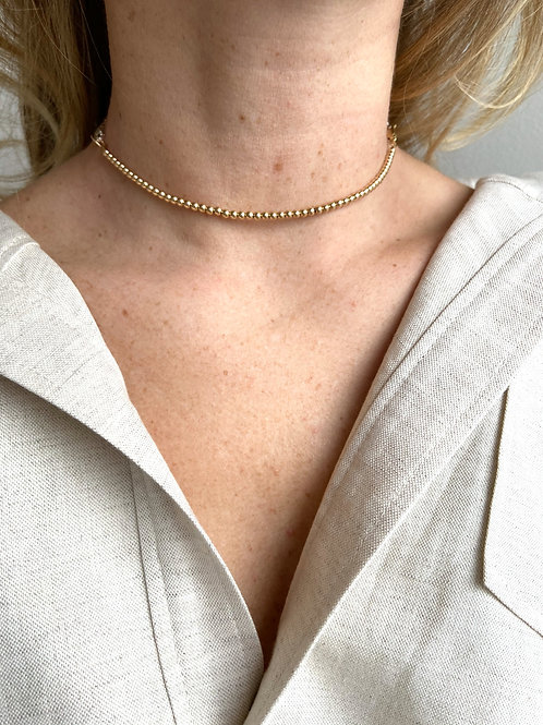 Franca Mini Beaded Gold Necklace