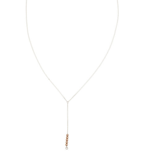 Sienna Rose Gold Y necklace