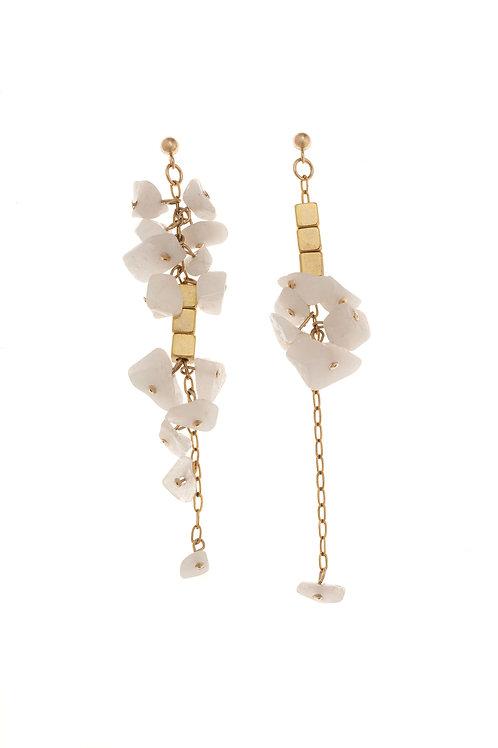 Concha Asymmetrical Gold Earrings