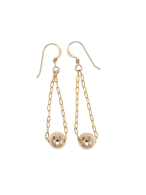 Gloria Gold Ball Earrings