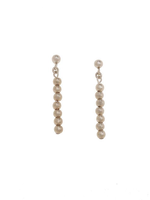 Nicola Sterling Silver Beaded Earrings