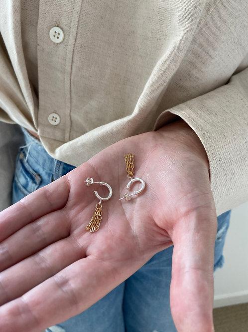 Emma Hoop Chain Earrings
