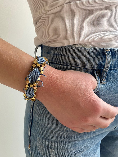Chiara Gold Denim Bracelet