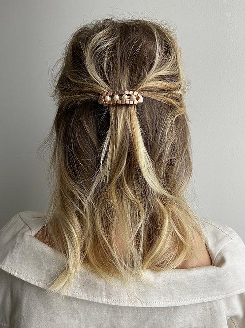 Chiara Rose Gold Pearl French Hair Clip