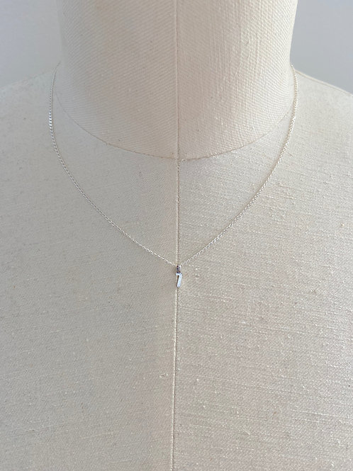 Number 7 Small Charm Sterling Silver Chain Necklace