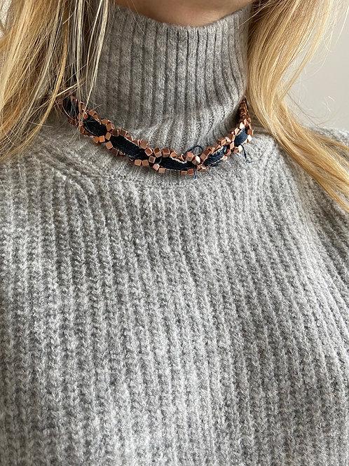 Chiara Rose Gold Vintage Levi's Denim Necklace