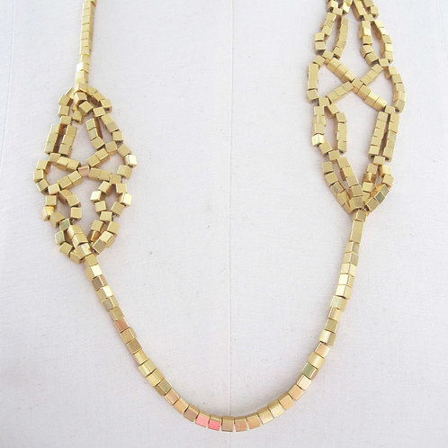 Lace Gold Necklace