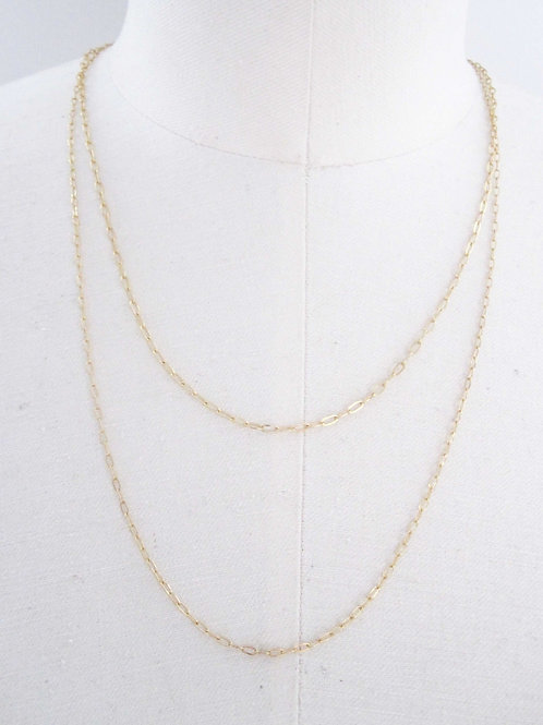 Daria Double Gold Chain Necklace