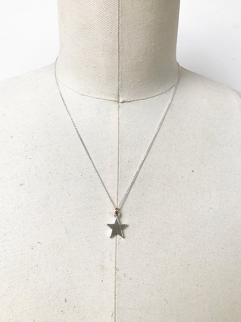 Star Sterling Silver Charm Necklace