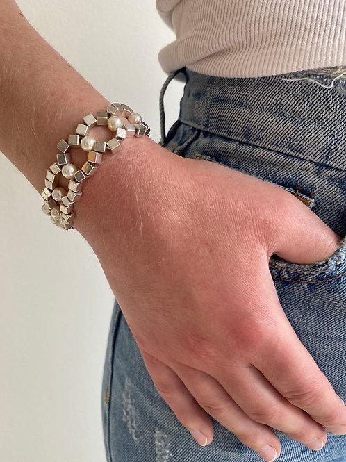 Chiara Silver Pearl Bracelet