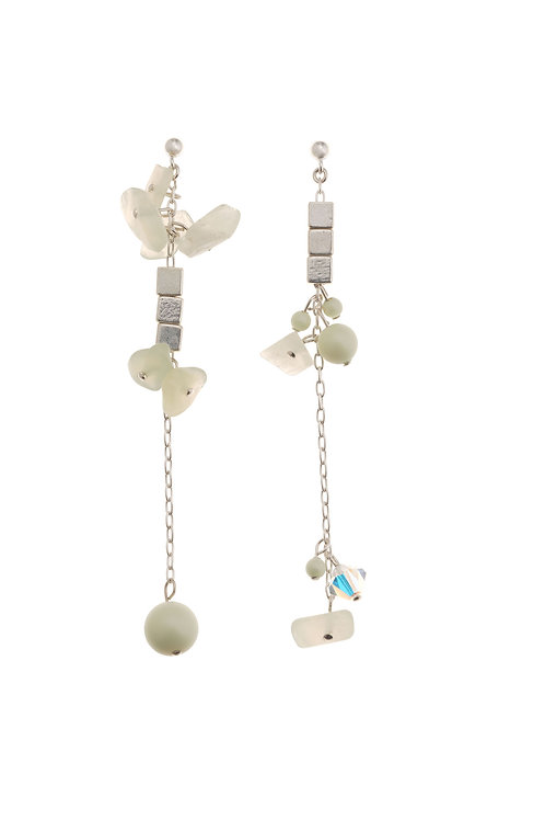 Verda Mint Crystal Earrings