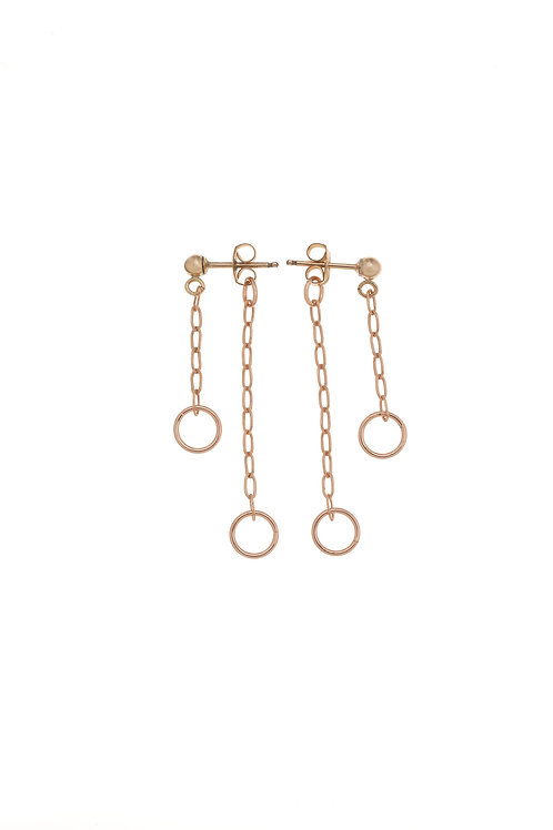 Mona Rose Gold Mini Hoop Earrings
