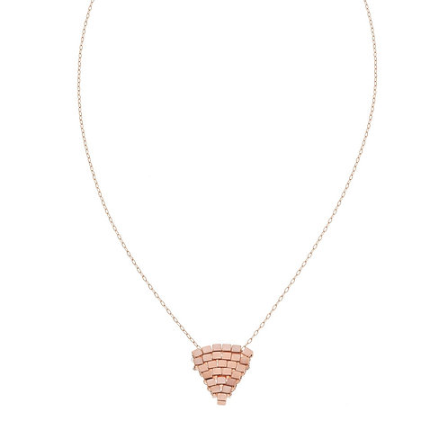 Coco Woven Rose Gold Necklace