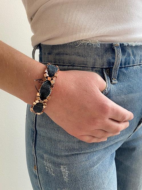 Chiara Rose Gold Denim Bracelet