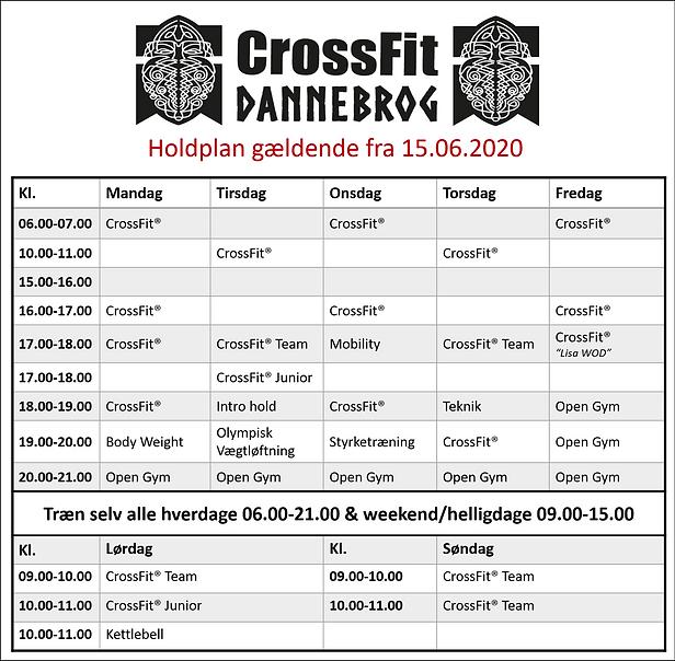 Holdplan CrossFit Dannebrog Aalborg Skal