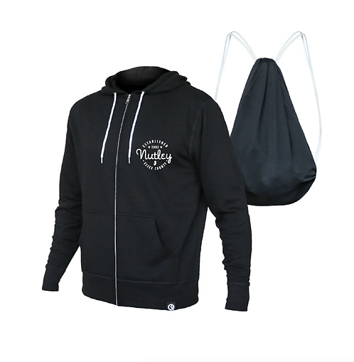 Nutley Full-Zip Hoodie + Drawstring Bag