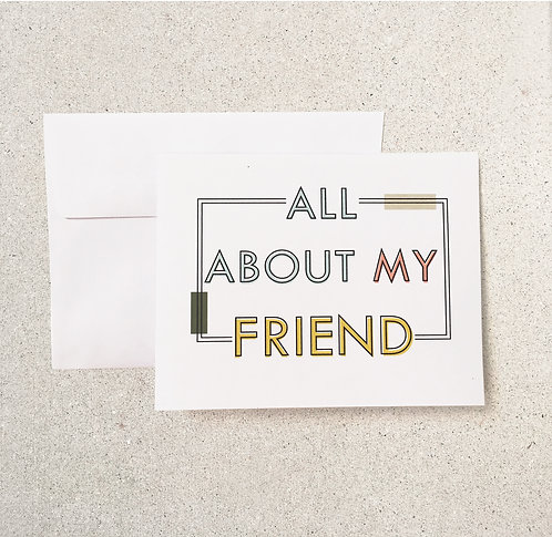 All About My Friend (6-pk)