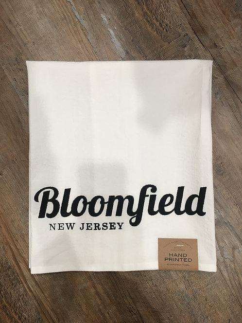 Bloomfield Script Flour Sack Towel