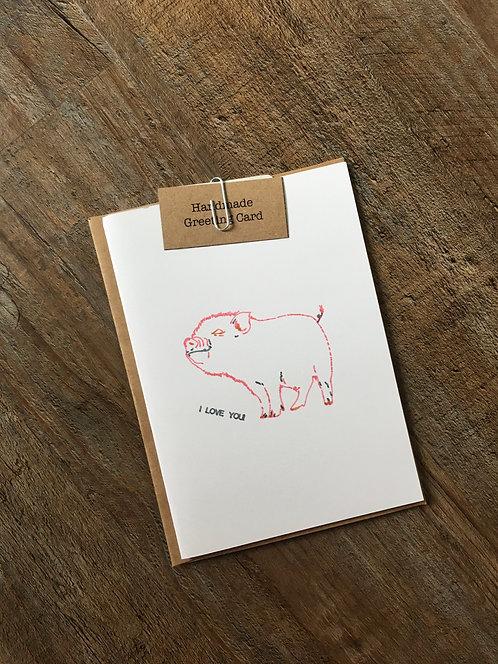 'I Love You' Animal Greeting Card