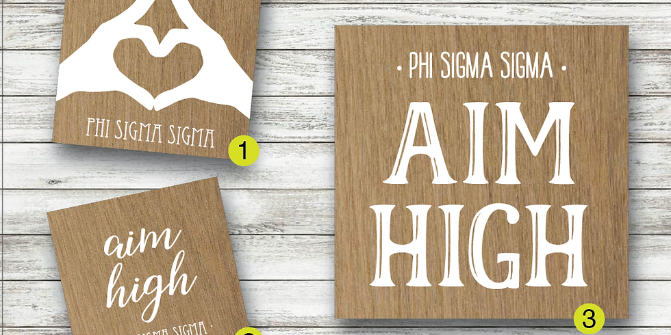Fundraiser: Phi Sigma Sigma Board Painting