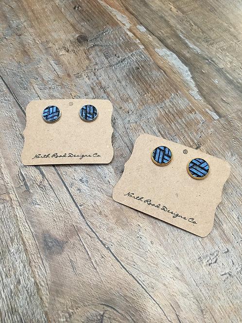 North Road Designs Blue Stud Earrings