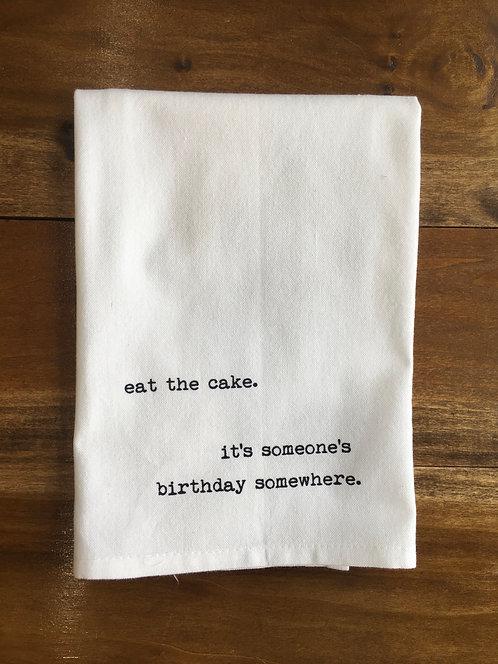 Tea Towel: Birthday