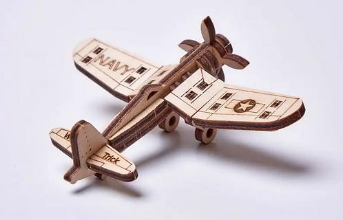 Corsair Plane Wood Puzzle