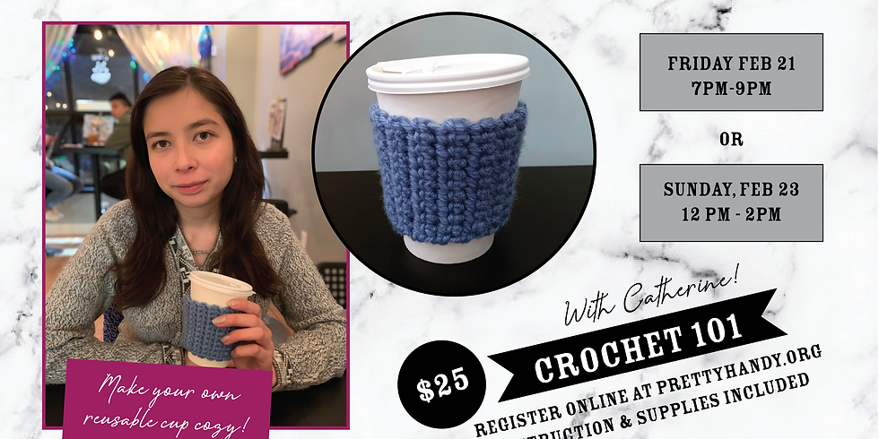 Crochet 101 with Catherine - Make a Reusable Cup Cozy!