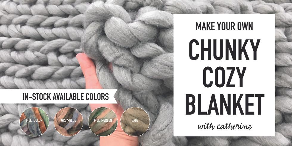 DIY Super Chunky Cozy Blanket ($85)