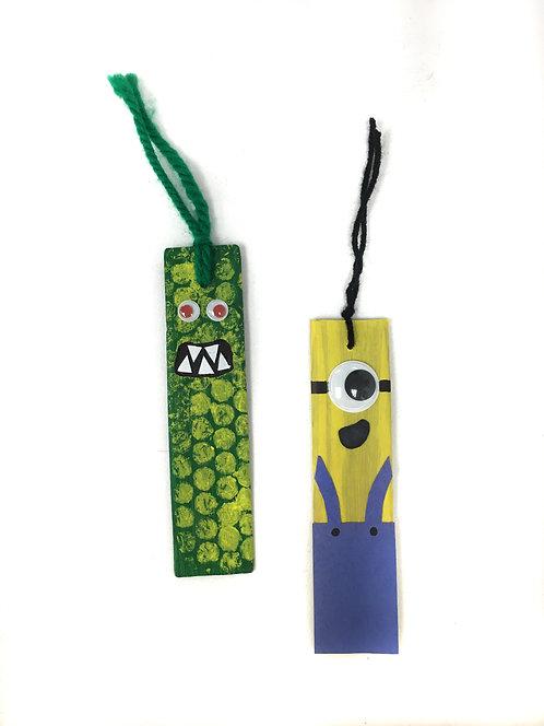 Drop Off Craft: Wooden Monster Bookmarks