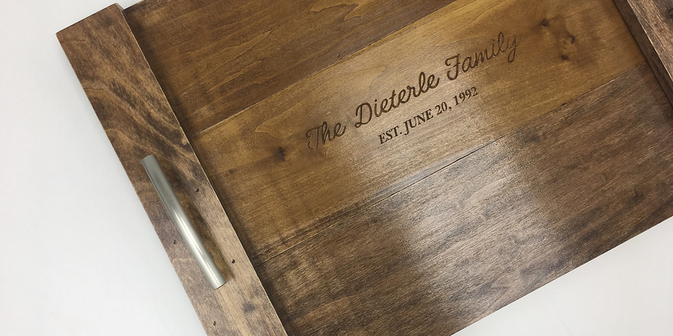 Personalized Wood Trays (Engraved!)