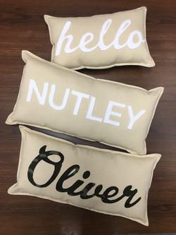 Custom Fabric Letter Pillows