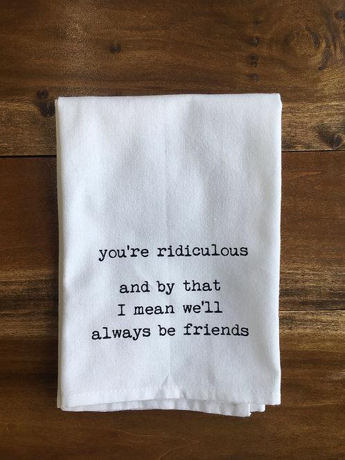 Tea Towel: Friends