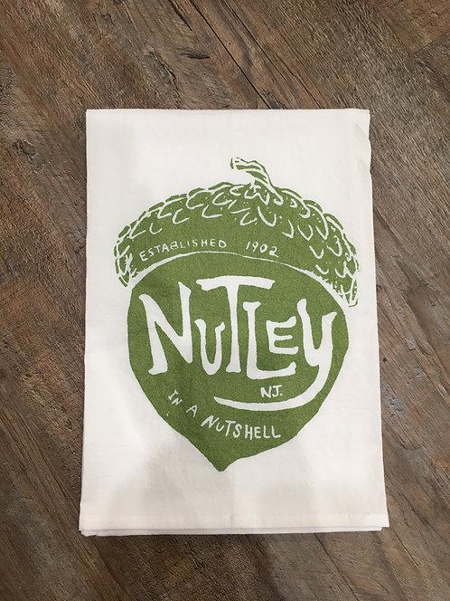 Nutley 'Nut' Tea Towel (Green)
