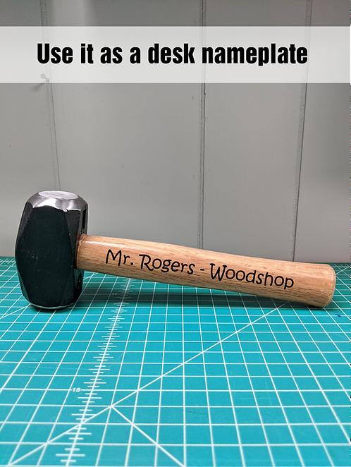 Custom Engraved Sledge Hammer