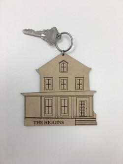 Oversized House Keychain
