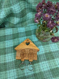 Olive Wood Keychain Holder