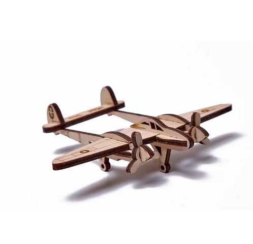 Lightning Plane Wood Puzzle