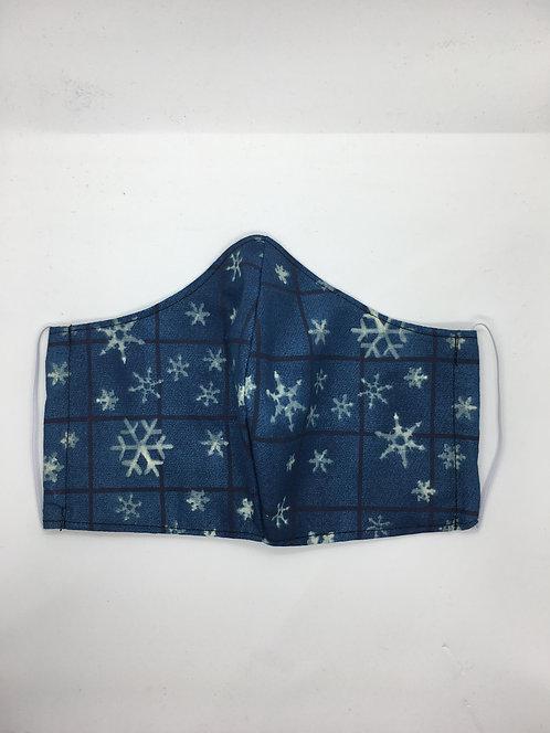 Blue Snowflake Mask