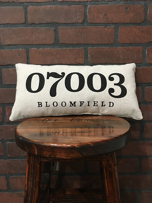 Bloomfield Zipcode Pillow