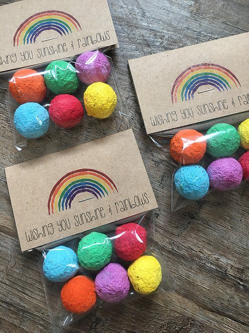 Rainbow Wildflower Seed Bombs