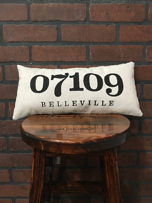 Belleville Zipcode Pillow