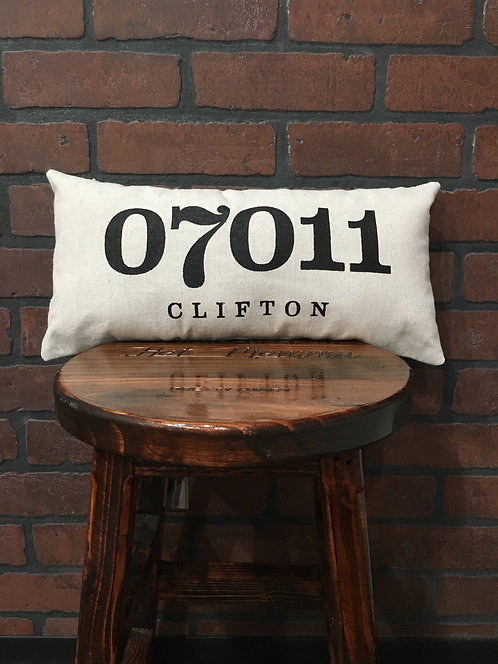 Clifton Zipcode Pillow