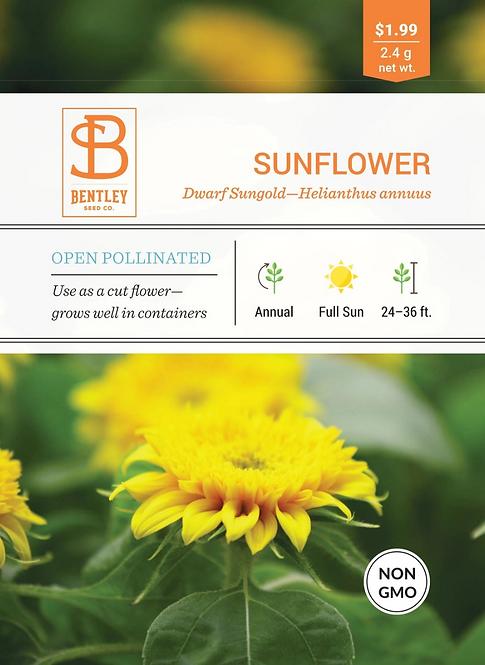 Dwarf Sungold Sunflower - Seed Packet