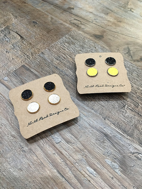 North Road Designs Combination Stud Earrings